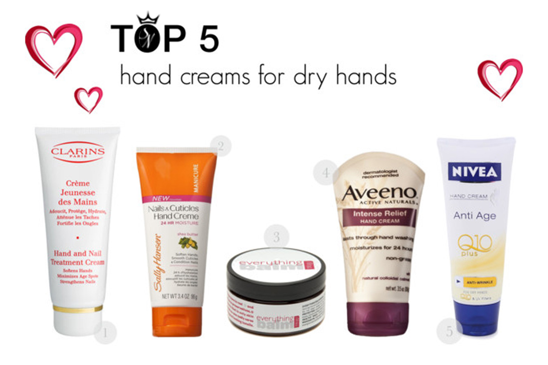 The best 5 hand creams for dry skin