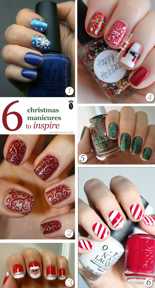5 christmas nail art to try