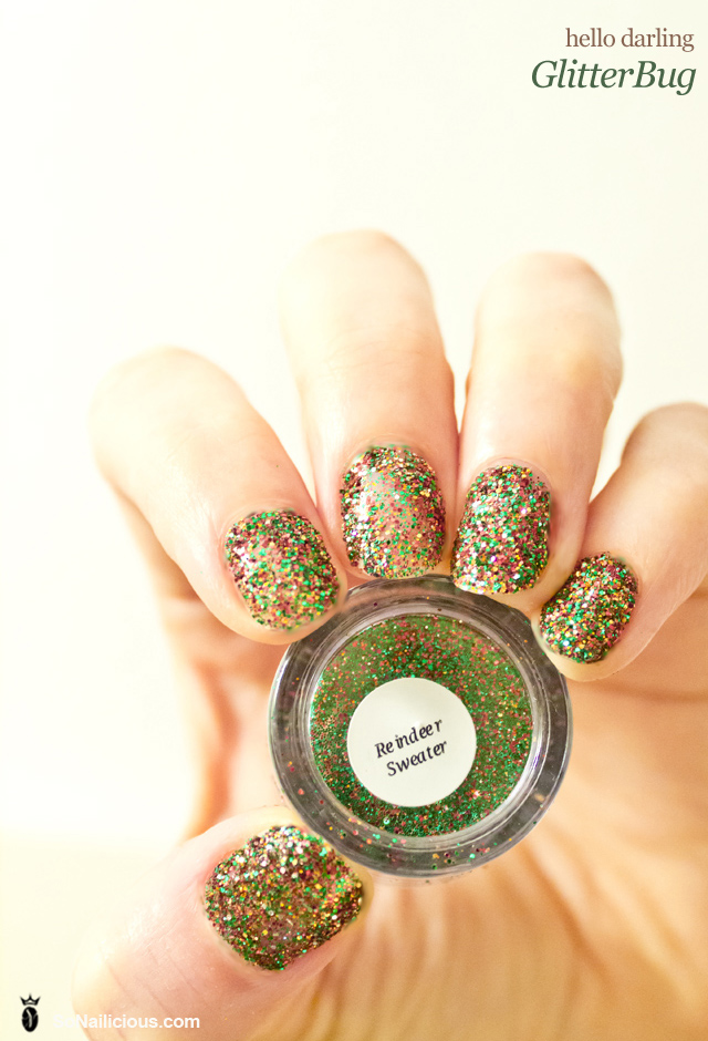 hello darling glitterbug nails