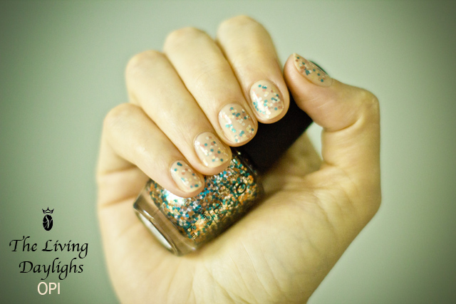 the living daylights opi glitter nail polish