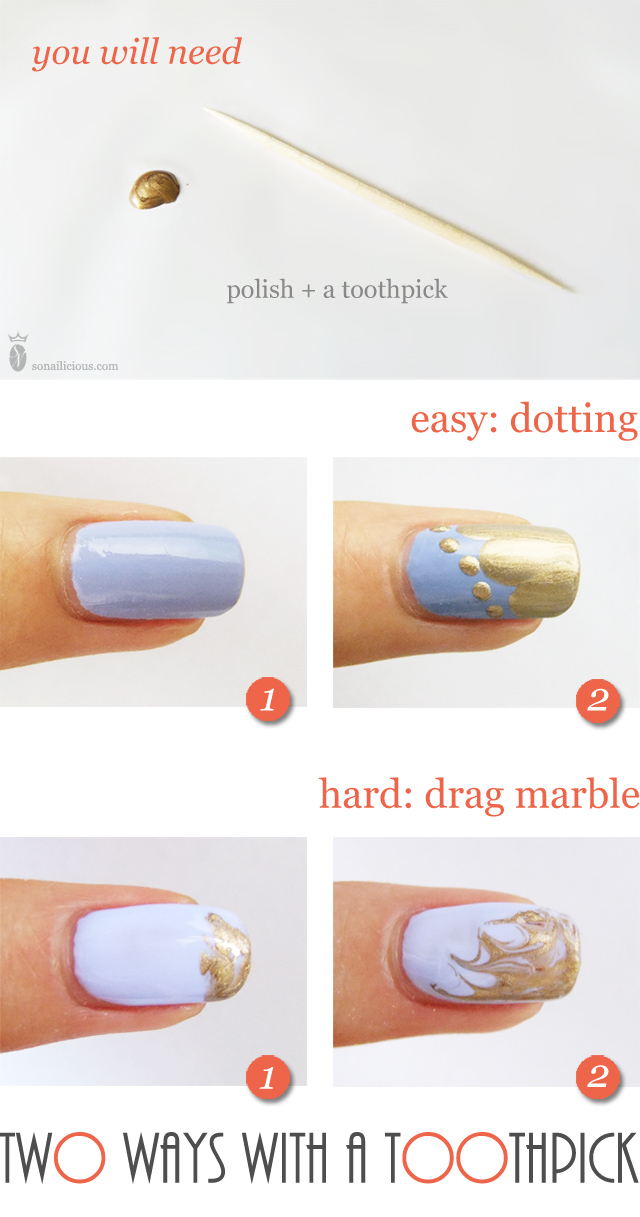 Toothpick Nail Art Tutorial