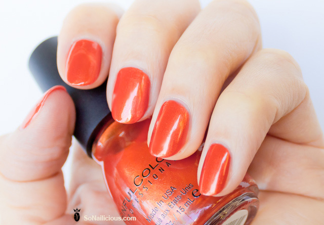 sinful colors nail polish courtney orange