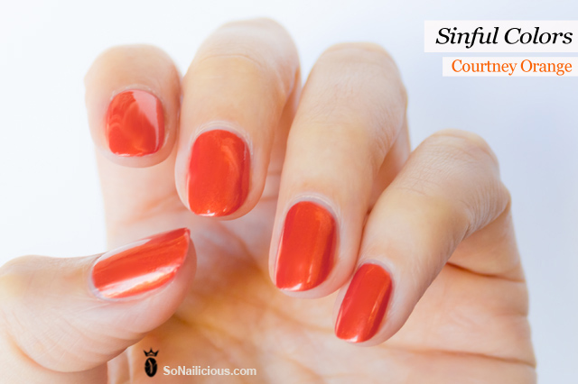 sinful colors review courtney orange