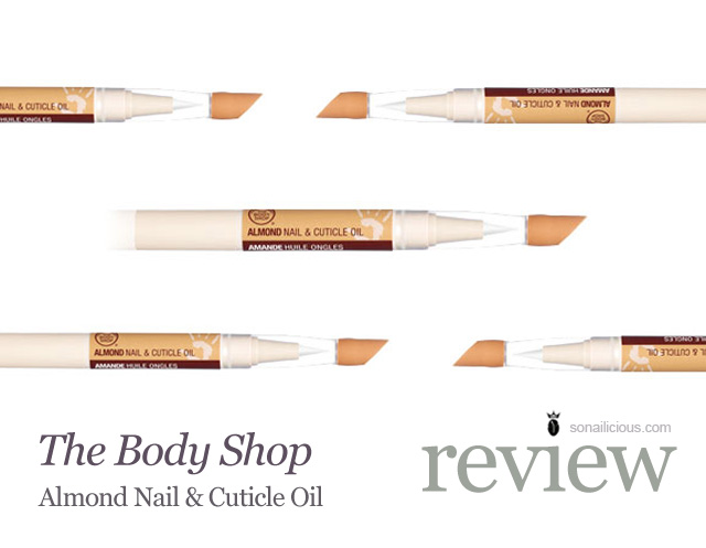 the body shop almond nail and cuticle oil review