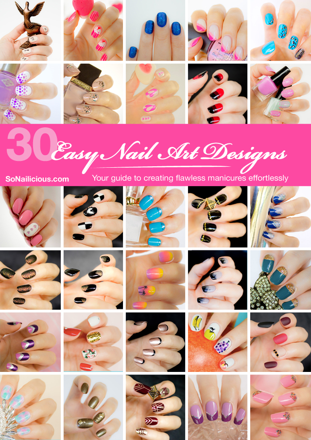 30 easy nail art designs nail tutorials e book by sonailicious 30 easy nail art designs e book featuring 30 nail art tutorials is your guide to creating flawless nail art at home easy and quick prinsesfo Image collections