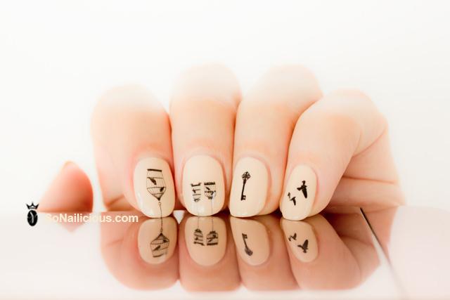 Hello Darling nail decals