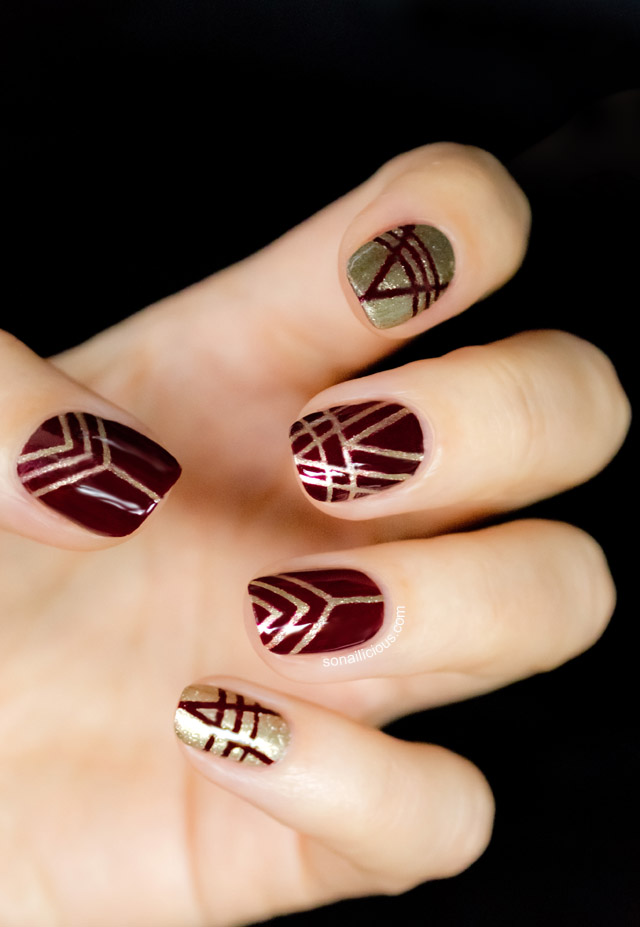 35 gorgeous fall nail art ideas the crafting nook by. Black Bedroom Furniture Sets. Home Design Ideas