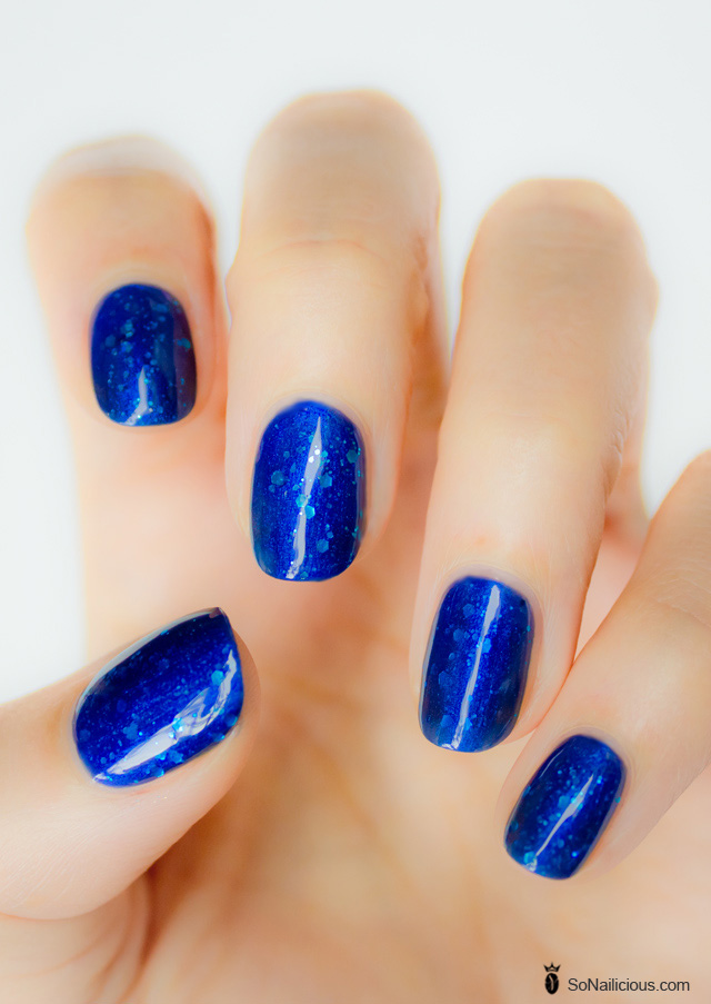 blue glitter nails, ulta3 pacific splash