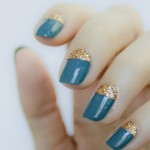 28 days of SoNailicious Nails – Day 20 – Royal Moon Nails with Loose Glitter