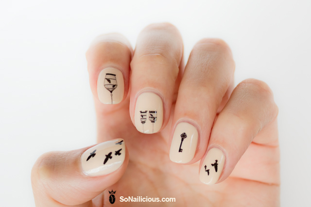 nails with nail decals