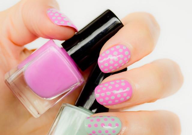 polka dot nails, dots nail art