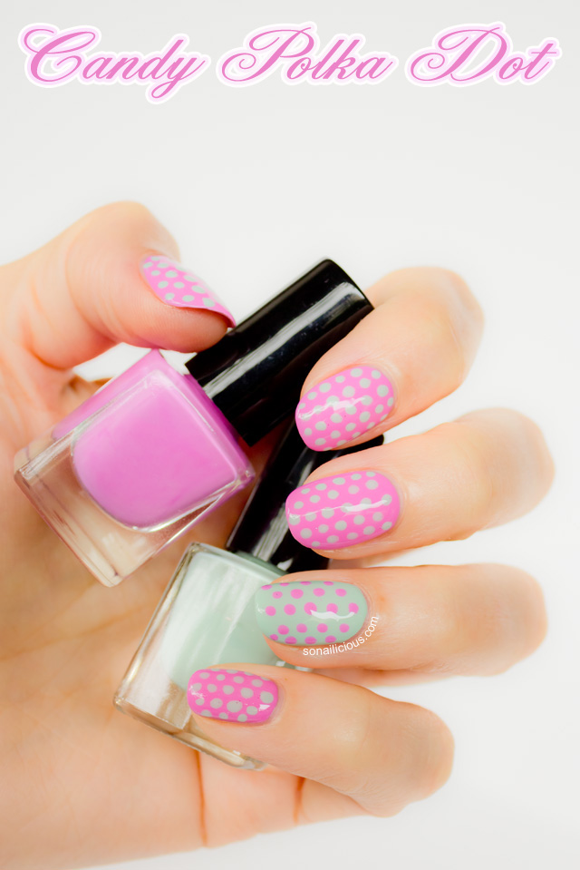 polka dot nails, dots nail art