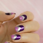 28 days of SoNailicious Nails – Day 21 – Purple Rain chevron nails