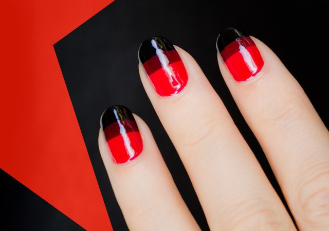 red october nails, red nails