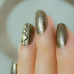 28 days of SoNailicious Nails – Day 27 – Explosif Metal Studs Nails