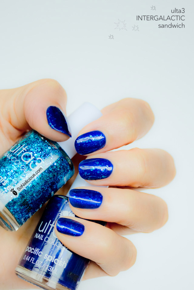 ulta 3 pacific splash, blue nails