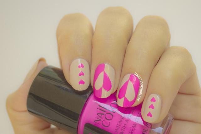 valentines day nail art, australis totesamaze nail polish swatch