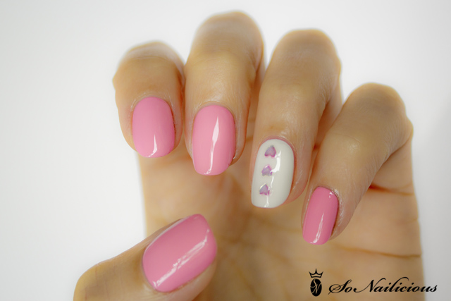 valentines day nails, easy