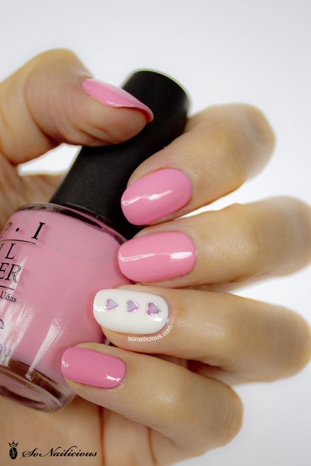 Nails – Day 11 – Through the Pink Glass Valentine's Day nails