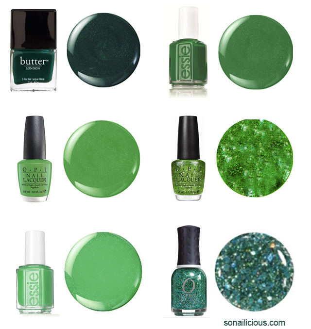 green nails, best green nail polishes