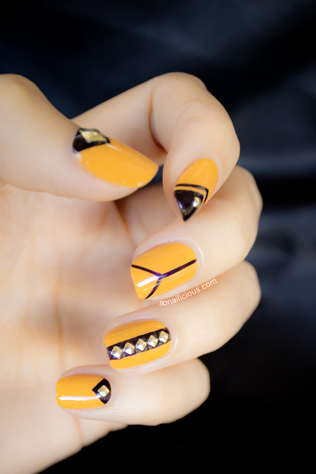 Nail Art Yellow And Black The Best Inspiration For Design And