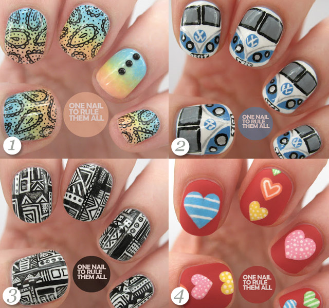 the best nail art blue nail polish tribal nails cute nails