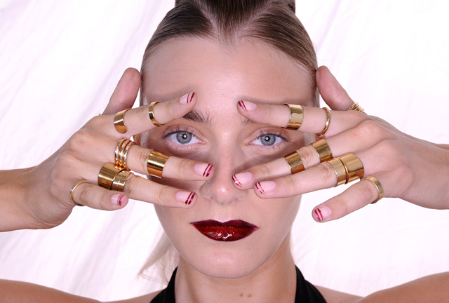 Lisa Ho MBFWA 2013 makeup nails