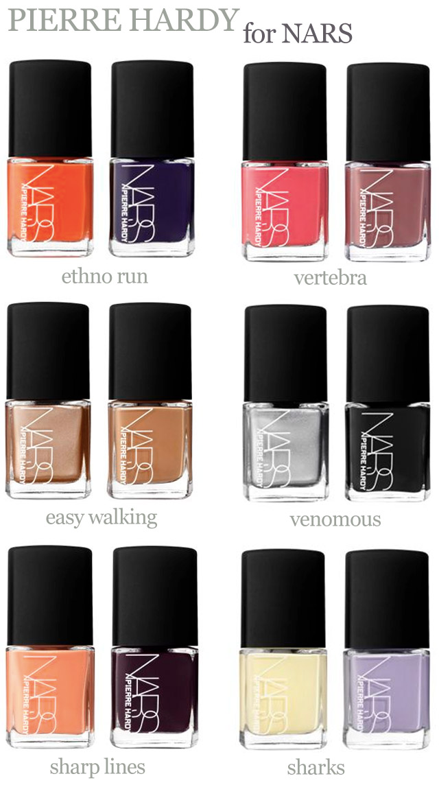 Pierre Hardy for nars nail collection 3 - SoNailicious
