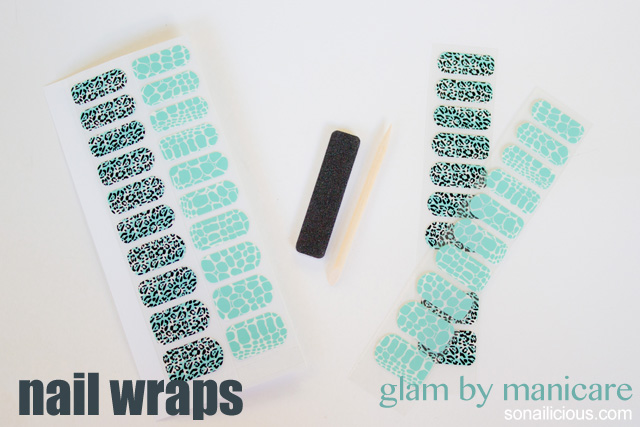 glam manicare nail wraps review