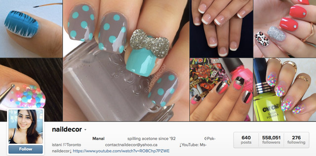 nail decor instagram