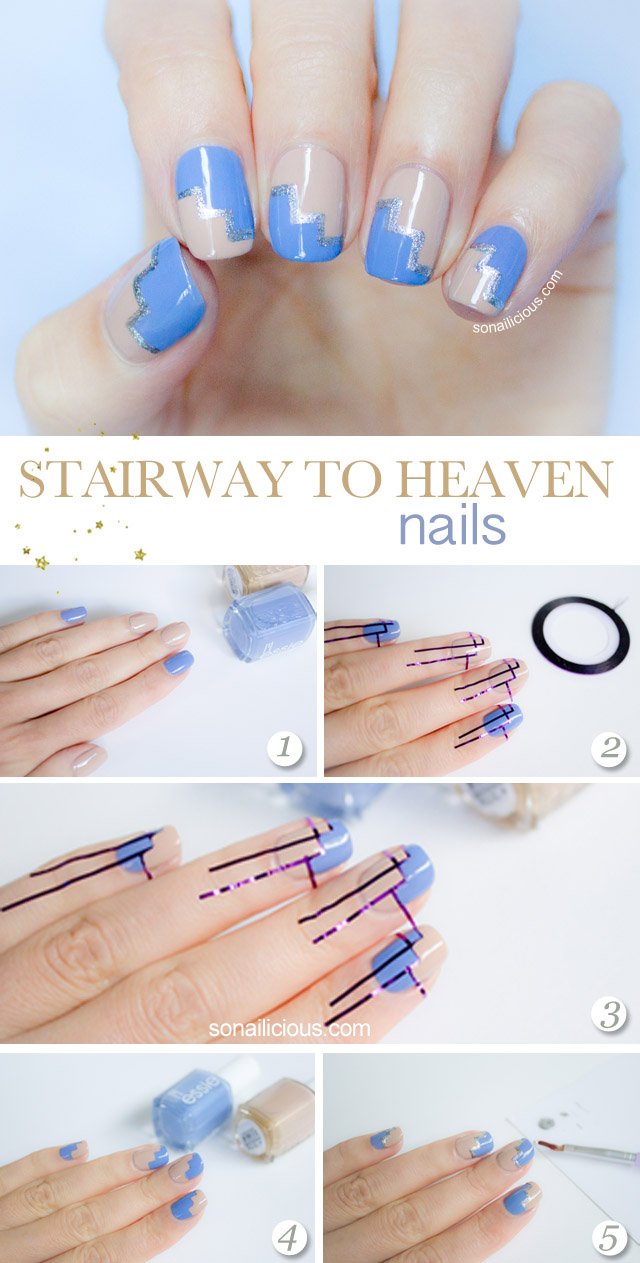 Striping Tape Nail Art Tutorial 1