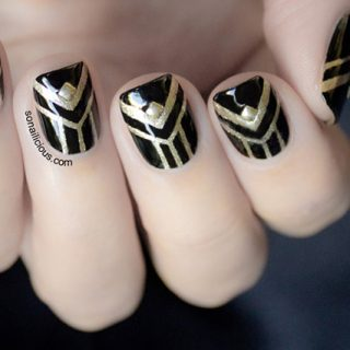 art deco nails, gatsby nails