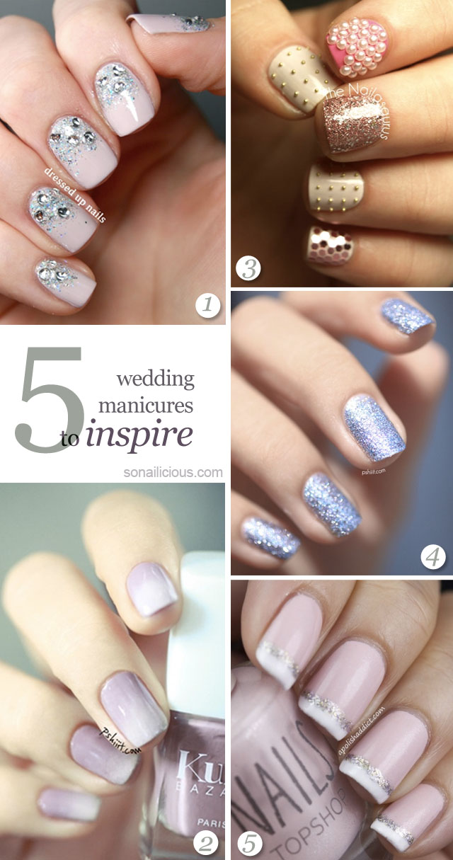 best bridal manicures, bridal nails