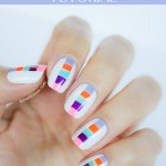 Summer Color Block Nails Tutorial