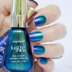 Sally Hansen Lustre Shine Scarab and Azure – Review & Ocean Ombre Nails