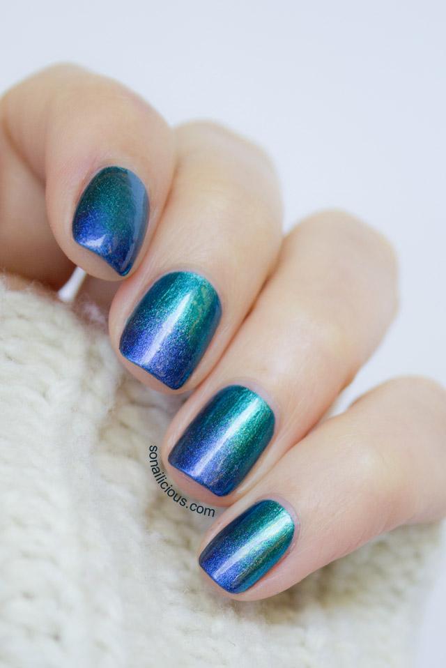 sally hansen lustre shine azure - SoNailicious
