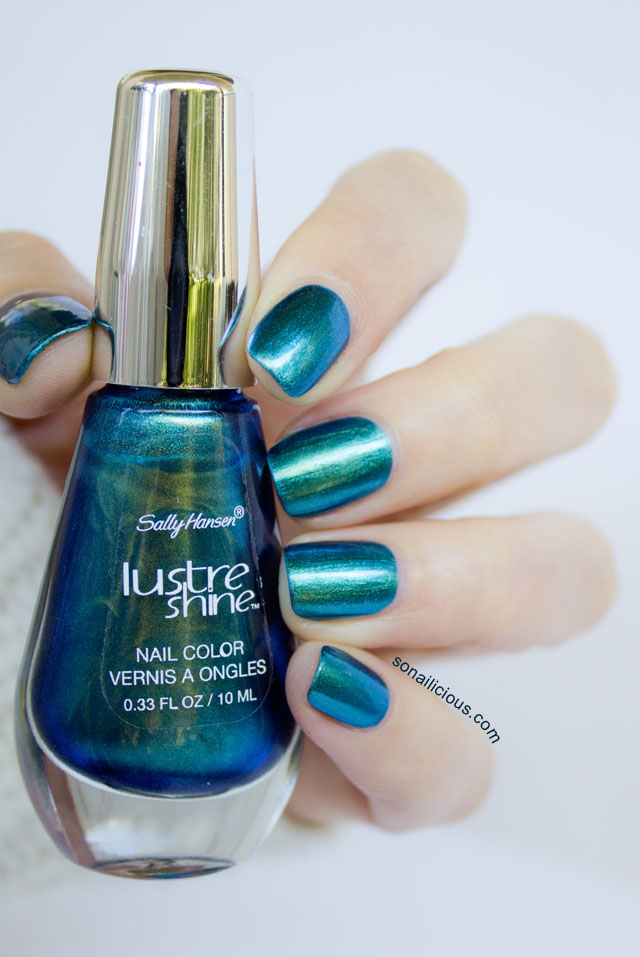 Sally Hansen Lustre Shine Scarab and Azure - Review & Ombre Nails