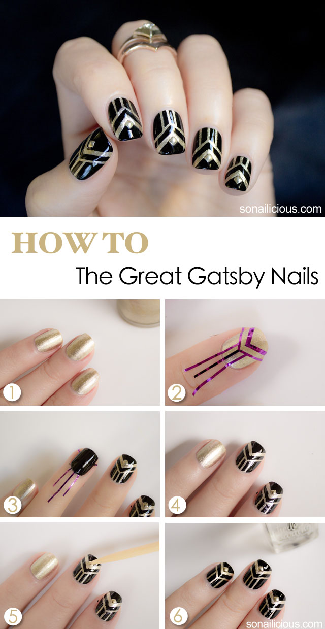 the great gatsby nails tutorial