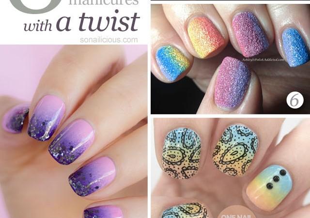 best gradient nails, ombre nails