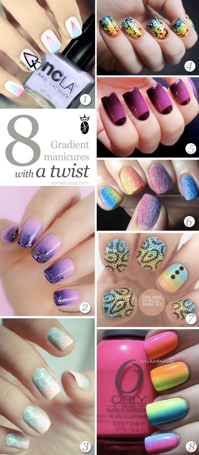 best gradient nails, ombre nails
