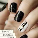 Transit Lounge Black and White Nails: Sydney – Abu Dhabi
