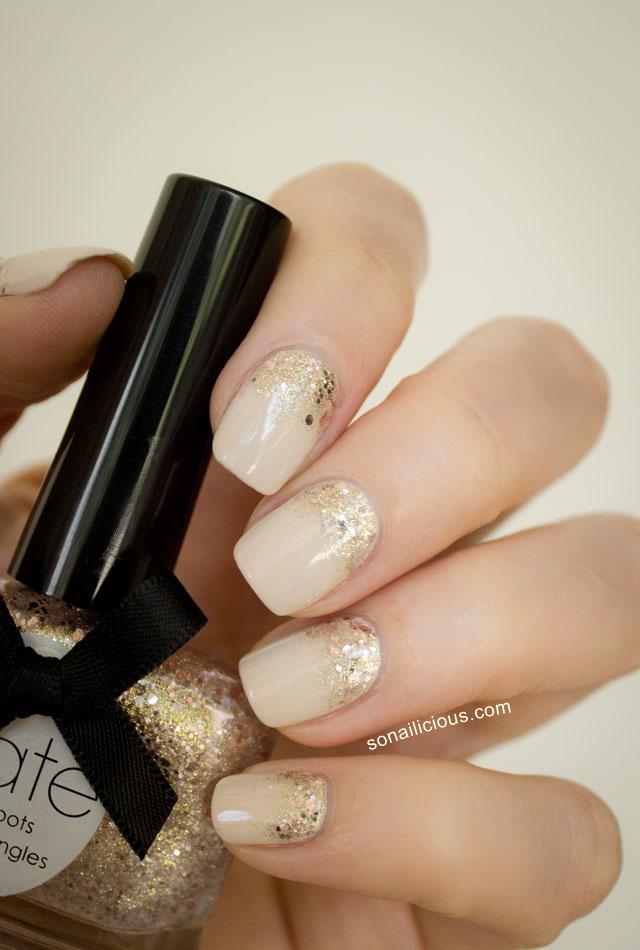 gold glitter gradient