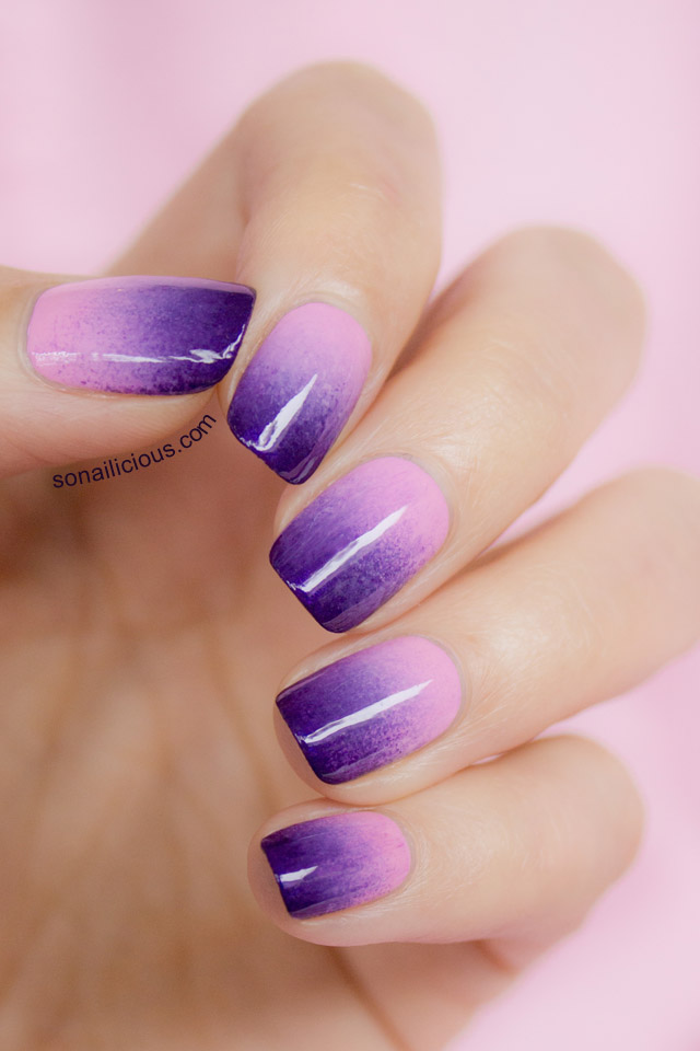lilac ombre nails