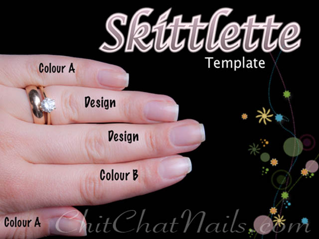 manicure tutorial skittlette how to