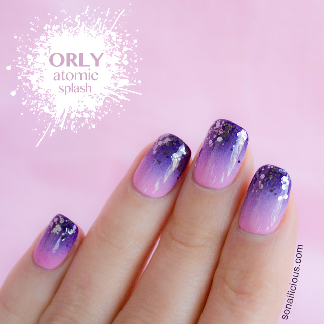 purple ombre glitter gradient