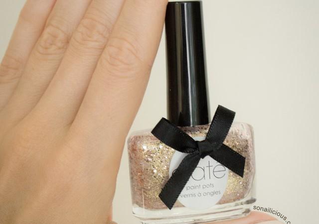 reverse glitter gradient nails