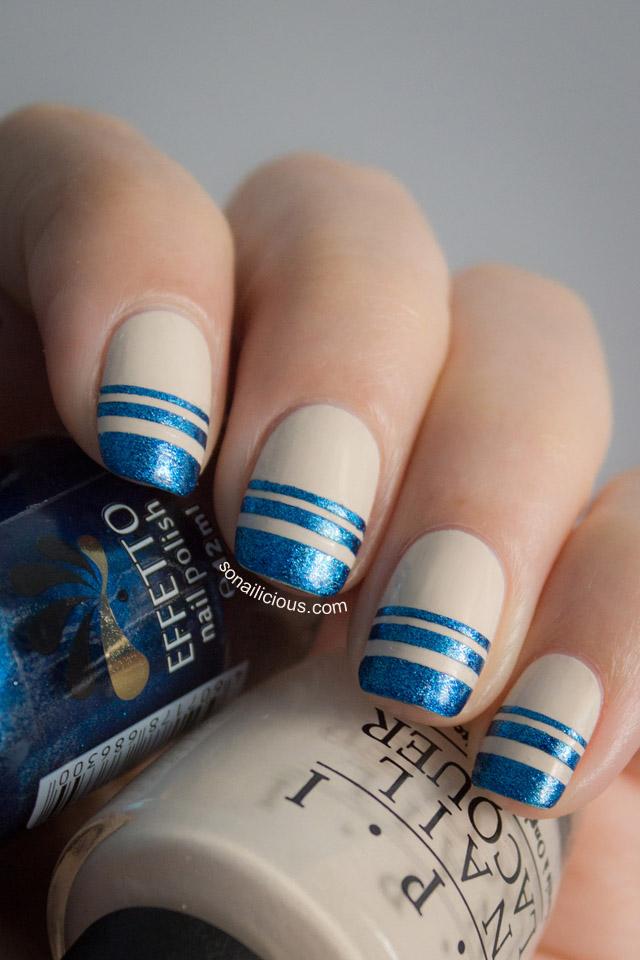 easy nautical nails
