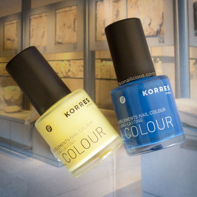 korres nail polish ocean blue