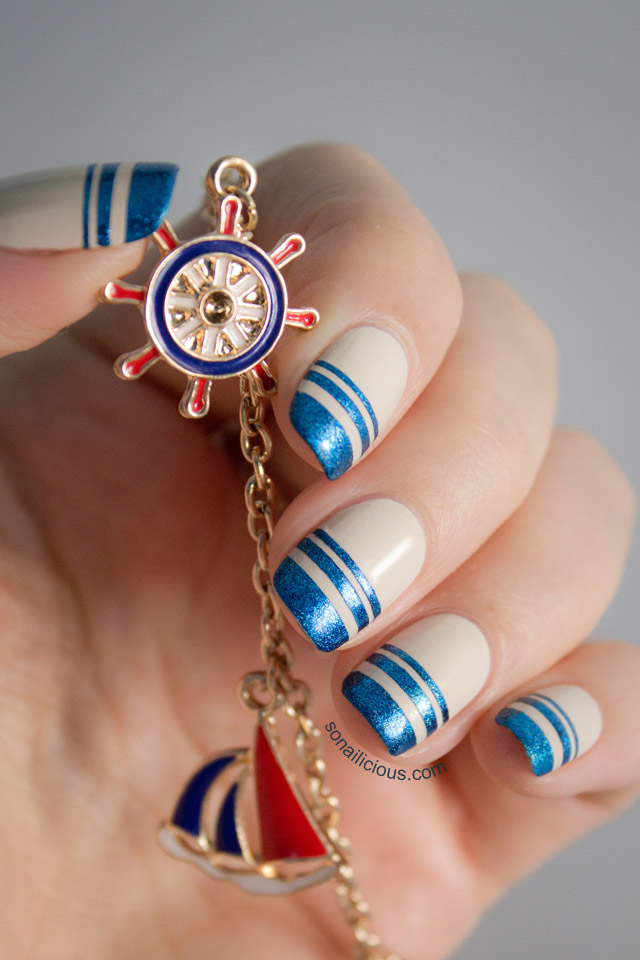 Hydra Island Inspired Nautical Nails