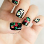 Matryoshka Doll Inspired Russian Nails